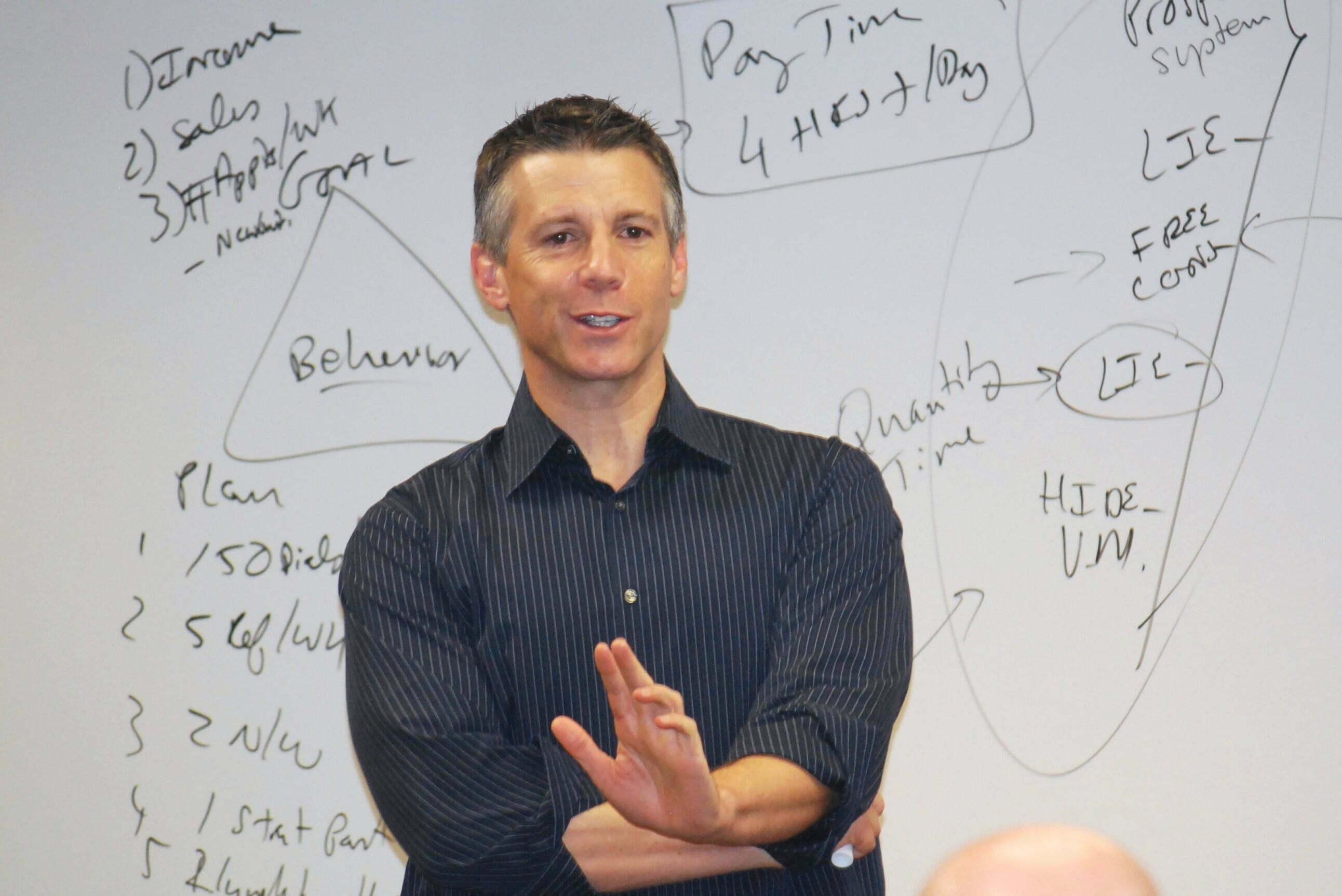 Chris Jennings teaching a class at Sandler Training