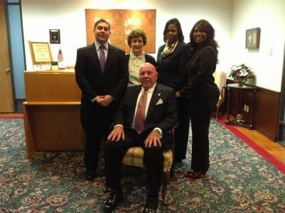 Bill Heath and staff