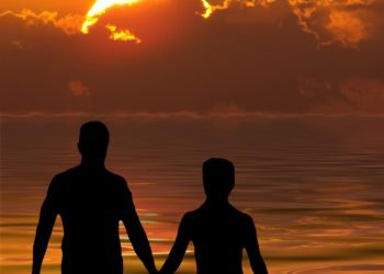 Randy Gallup couple at sunset - ROAD TO RECOVERY