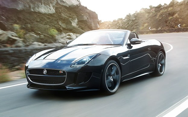 2014 Jaguar F Type Front View In Motion