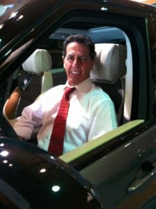 John Sanderson in car