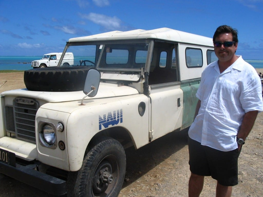 jay allen w rov at Aitutaki, one of the Cook Islands