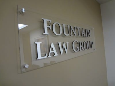 Focal Point Signs and Imaging Fountain Law