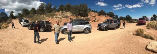 Panoramic view: Land Rover Anaheim Hills off-road adventure to Big Bear