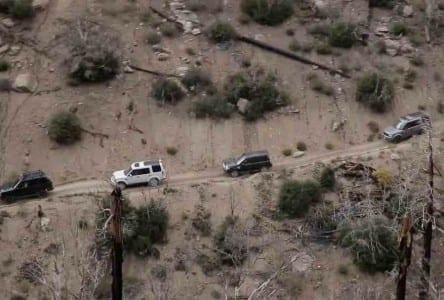 Land Rover Anaheim Hills off-road trek through Big Bear.