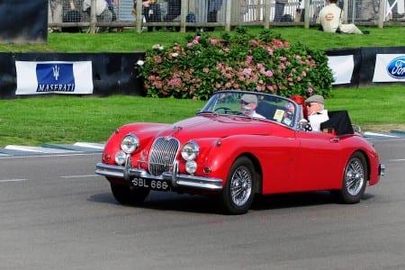 Goodwood Revival - red covertible Jaguar (2)