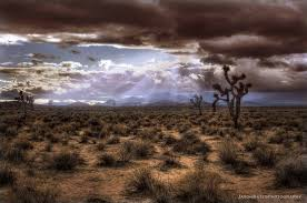 Calif desert sunset clouds