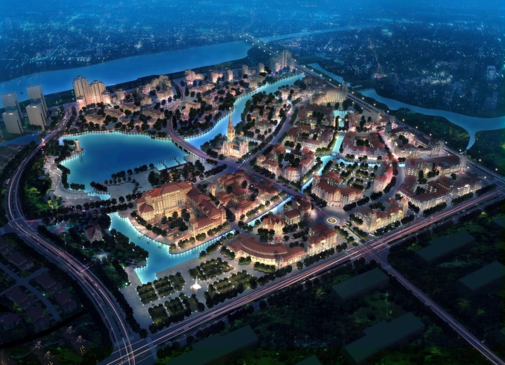 Oculus' European Canal City design in Southern China.