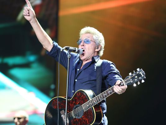 Roger Daltry of the Who live at Desert Trip tonight. (Photo: Jay Calderon/The Desert Sun
