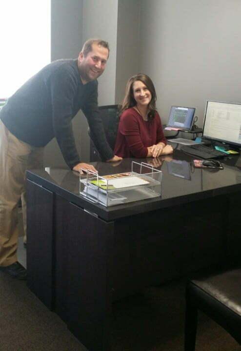 Brian Yacker and Stacey Bergman office shot - EXEMPLARY