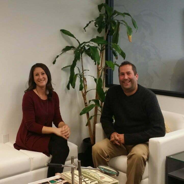 Brian Yacker and Stacey Bergman sitting - EXEMPLARY
