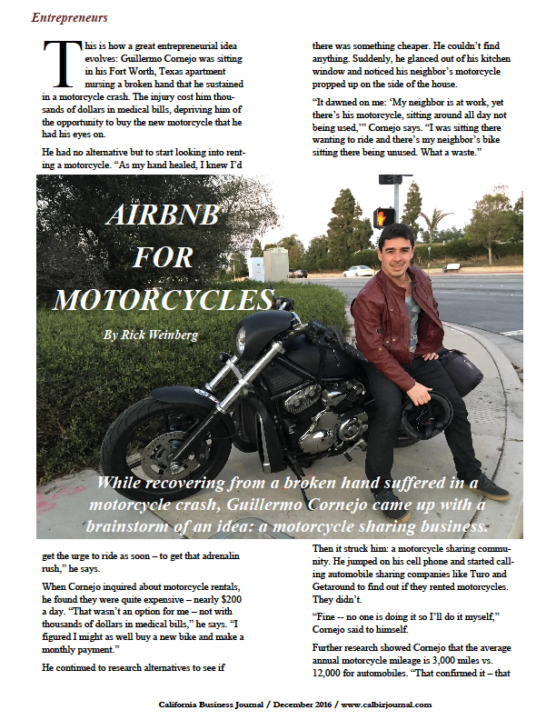 screener 2 - THE AIRBNB FOR MOTORCYCLES