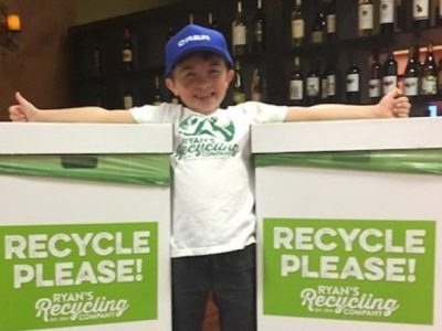 CALIFORNIA BOY, 7, SAVES $10G FOR COLLEGE AFTER STARTING RECYCLING BUSINESS