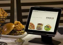 burger and ipad - RESTAURANT REVIEW: STACKED