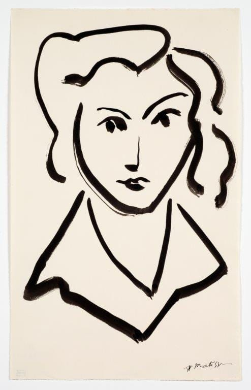 Henri Matisse, Head of a woman Succession H. Matisse / Artists Rights Society New York, Courtesy American Federation of Arts