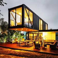 The quality of container homes run the gamut. This is one of the more extravagant examples.