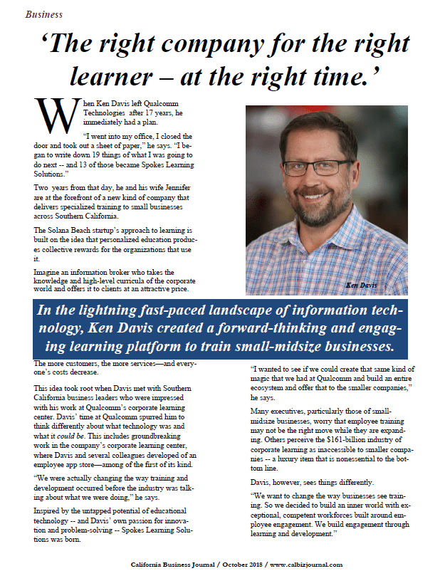 Ken Davis created a forward-thinking and engaging learning