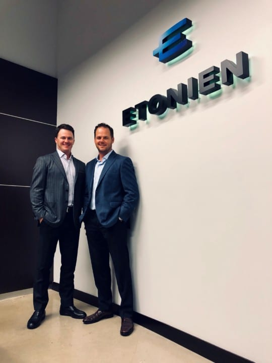 Brett Davis (L) and brother Chadd Davis (R), Partners & Managing Directors of ETONIEN