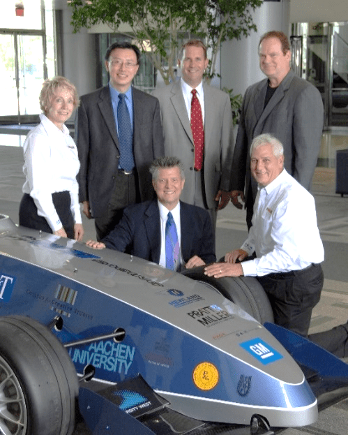 Loeffler with GM Global Formula One Team