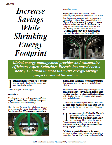 s1 9 - IS IT POSSIBLE TO SAVE MILLIONS OF DOLLARS WHILE SHRINKING YOUR ENERGY 'FOOTPRINT'? THE ANSWER IS UNEQUIVOCALLY 'YES.'