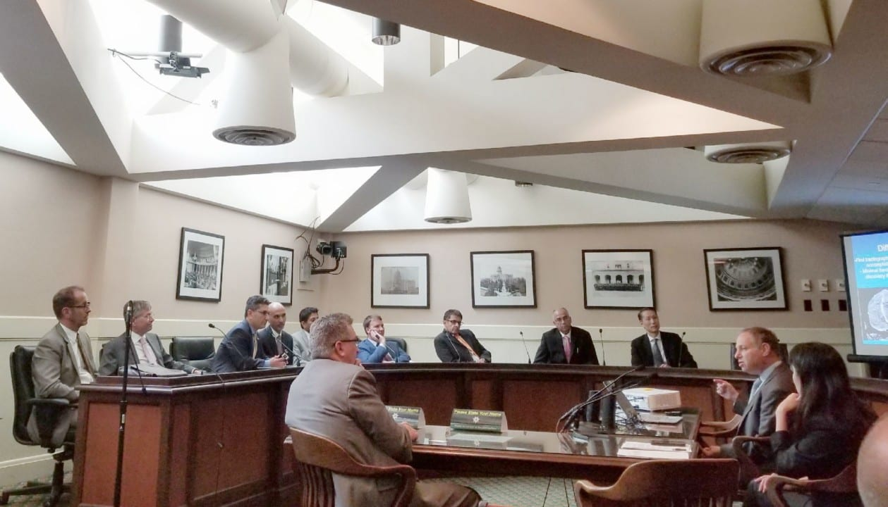 Roundtable discussion with Assemblyman Cooley at the Califirnia State Assembly Hearing on August 7th 2018 (Brain Mapping Day).