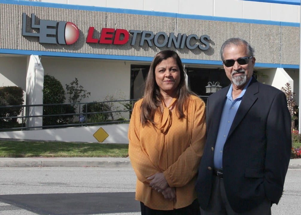 LEDtronics owners Pervaiz Lodhie and wife Almas. Photo by Shaan Lodhie