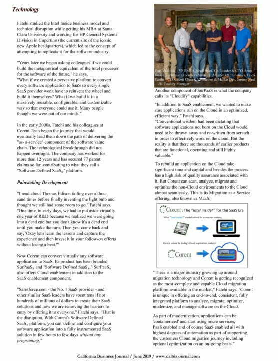 CBJ Corent Democratizing SaaS Page 2 - 'Democratizing' SaaS