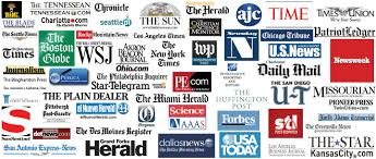 Collage of news organizations - About