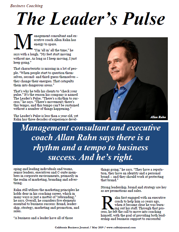 Allan Rahn, The Leader's Choice