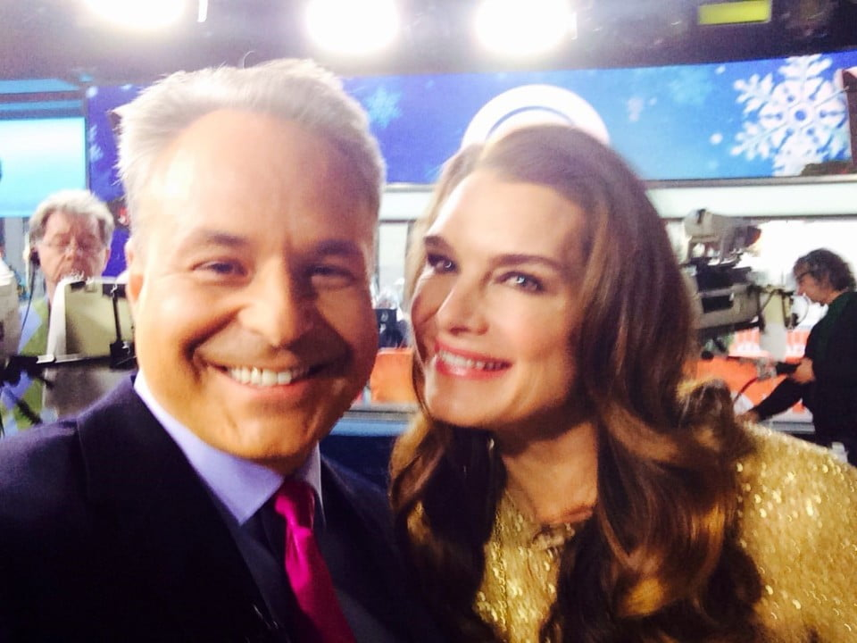 Client Arthur with actor and model Brooke Shields