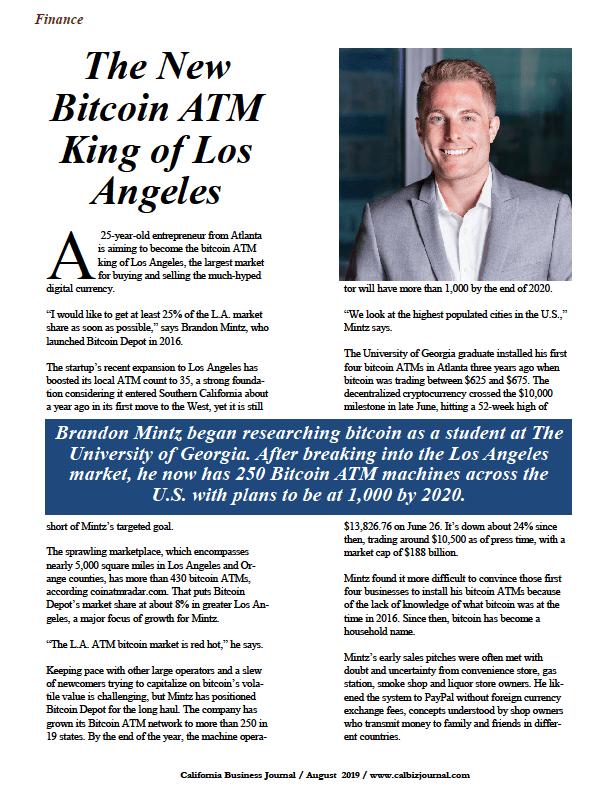 Brandon Mintz, Bitcoin Depot