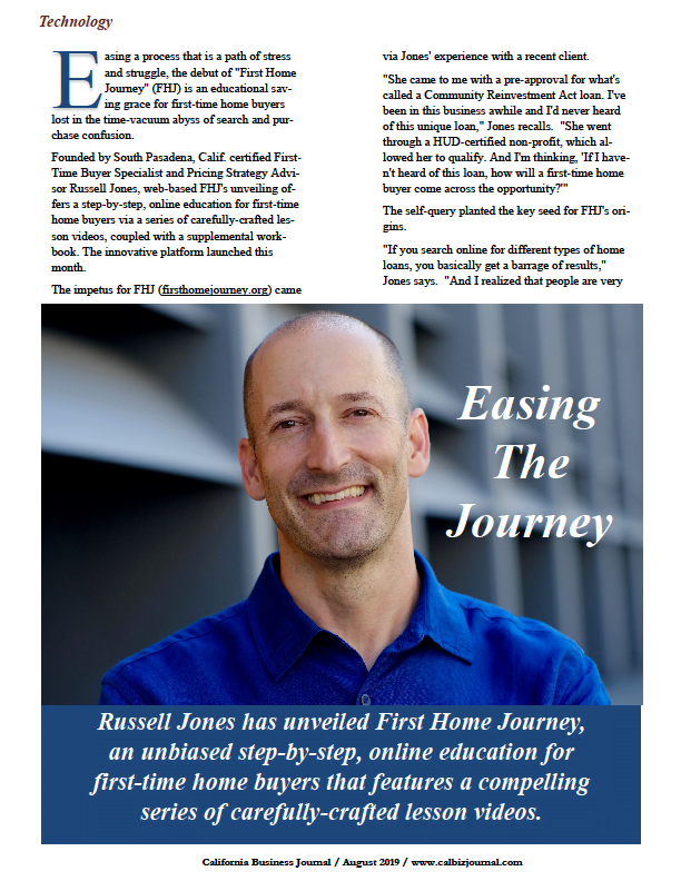 Russell Jones has unveiled First Home Journey.