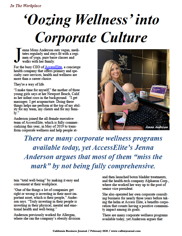 s1 - 'Oozing Wellness' into Corporate Culture
