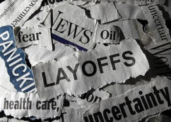 Layoffs headline with other economic related news