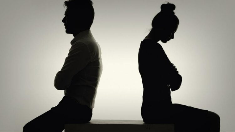 angry couple - 'My Job is Planning the Divorce ... On The First Date.'