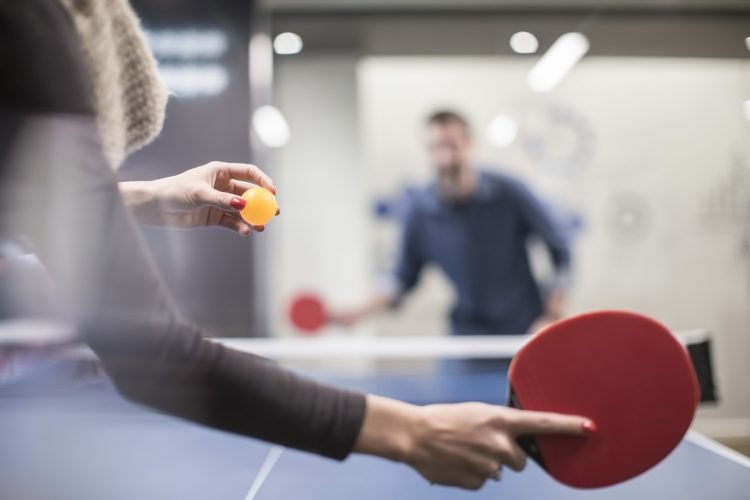 ping pong playing table tennis in office - Human Interest: How Ping Pong became Silicon Valley's favorite sport