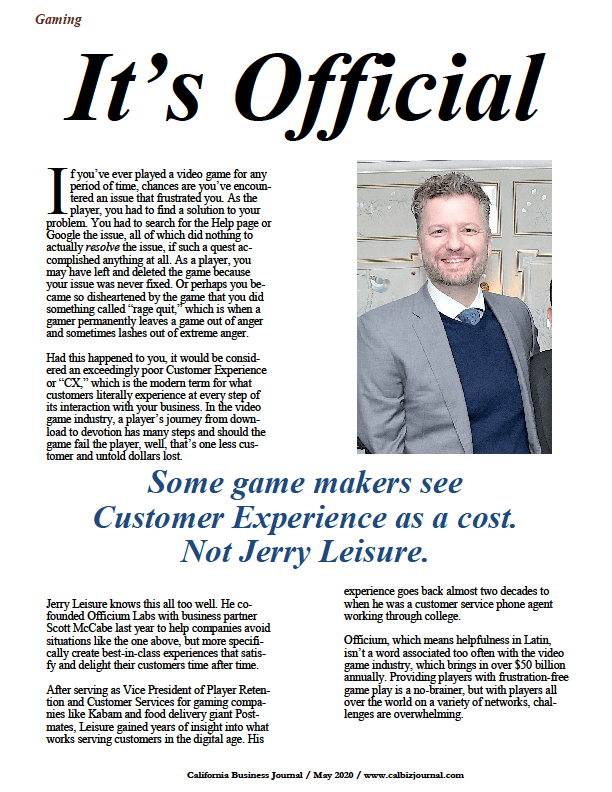 Jerry Leisure of Officium Labs