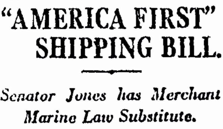 jones act 100 yrs 1 - Op-Ed: 100 Years Later, Jones Act and the American Maritime Workforce