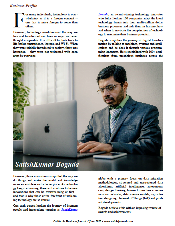 s1 7 - Business Profile: SatishKumar Boguda