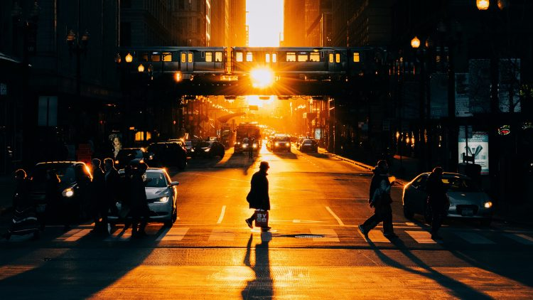 people crossing chicago street sunset - What, Another Movement?