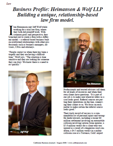 s1 6 - Business Profile: Heimanson & Wolf LLP