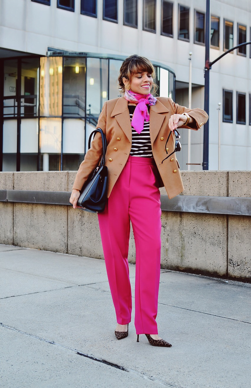 How To Wear Pink For Work