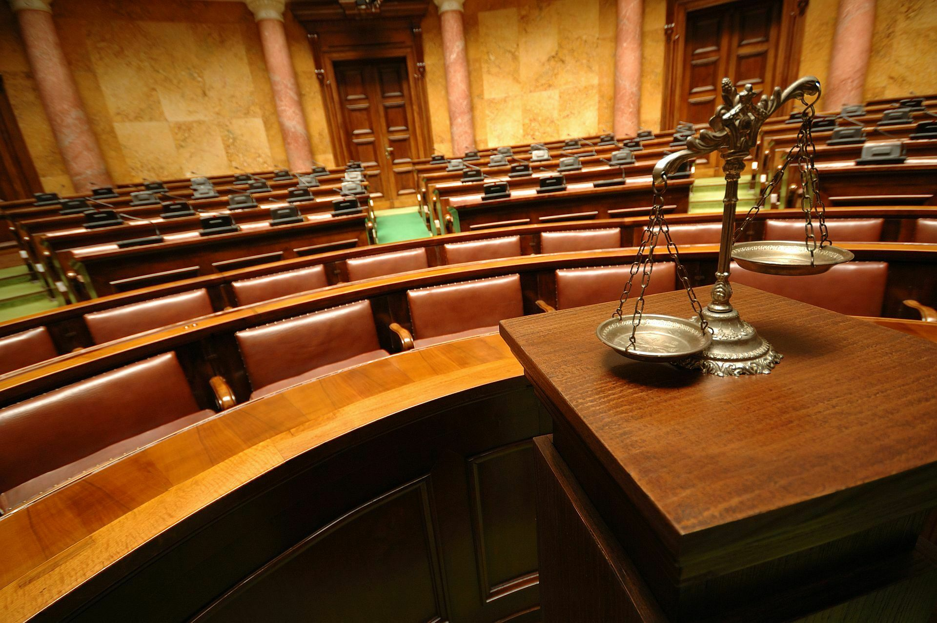 law empty court room - Qualities to Look for in a Criminal Defense Attorney