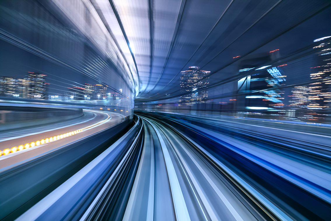 futuristic car highway transportation