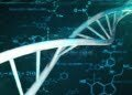 dna-double-helix-chemical-formulas-computer-generated-d-rendering-medical-research-background-rotation-184787276