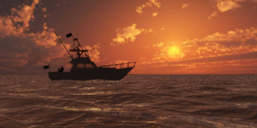 yacht fishing sunset1.1
