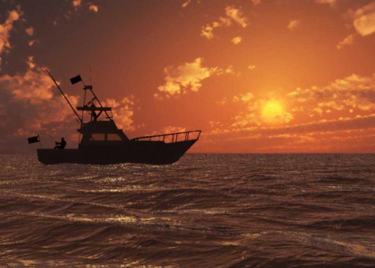 yacht fishing sunset1.1