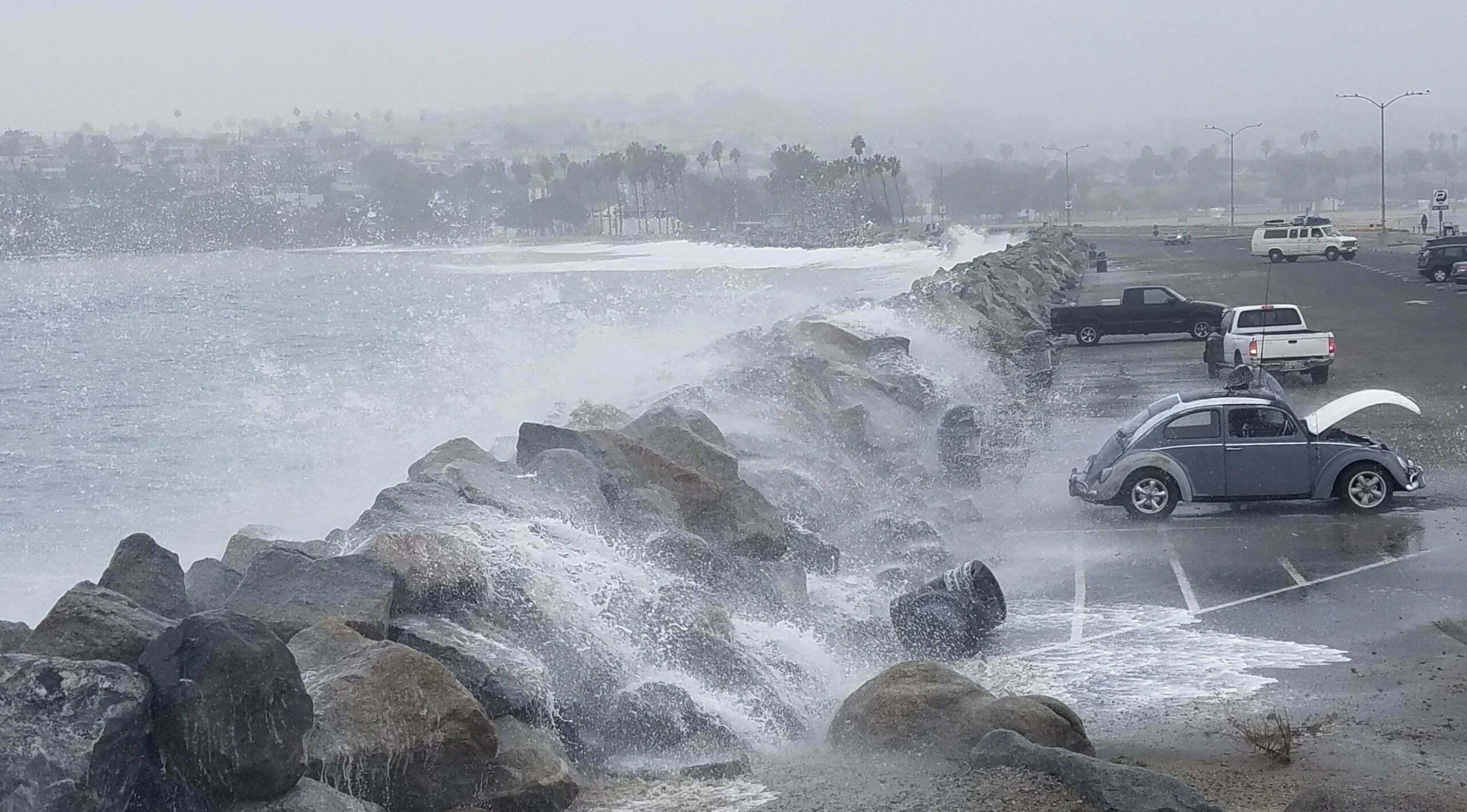 coastal flood waves