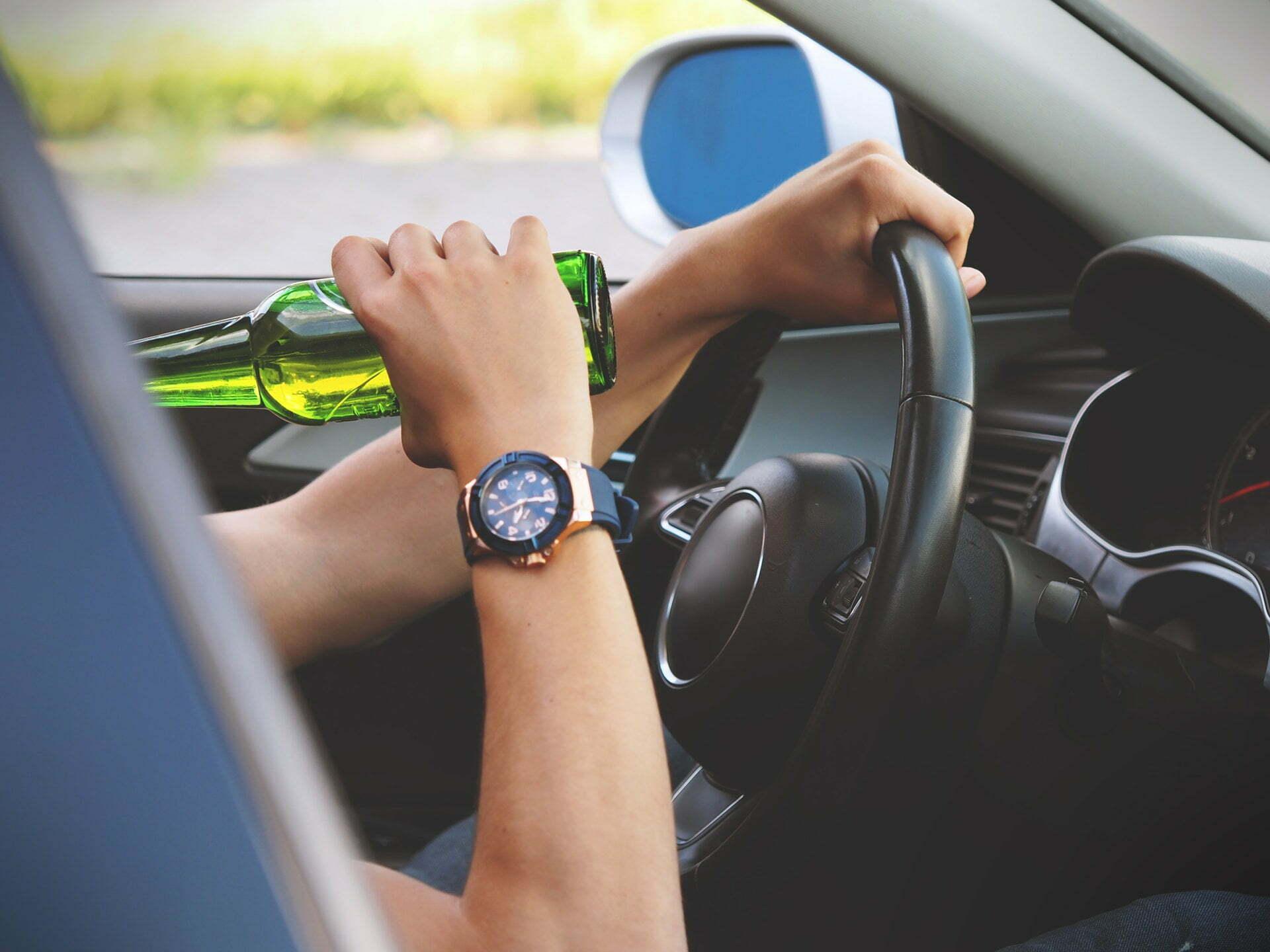 DUI drinking behind wheel